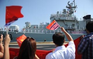 Chinese Ships in Haifa, Israel