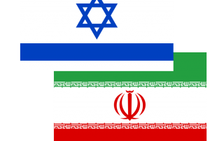 Israeli Iranian Flags