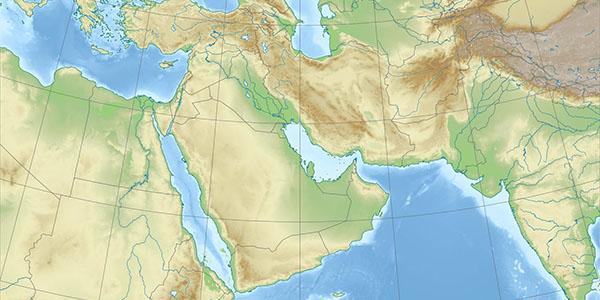 Middle East Relief Map